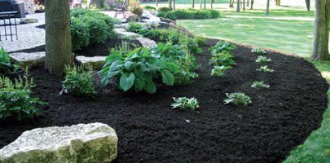 landscape black mulch