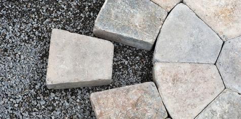 Landscape limestone under interlock
